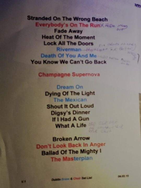 noel gallagher setlist 2018 Noel Gallagher's High Flying Birds': Dublin setlist – OasisMania noel gallagher setlist 2018